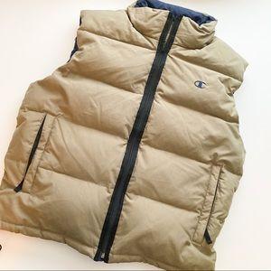 Champion puffy vest down fill
